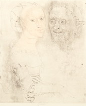 Young Woman and Old Man