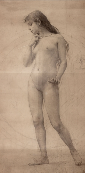 Study of a Girl for painting On the Crossroads